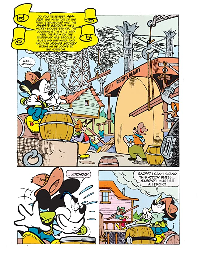 click for super-sized previews of Once Upon a Time... in America #7: Mickey Mouse and the Battle of the Alamo