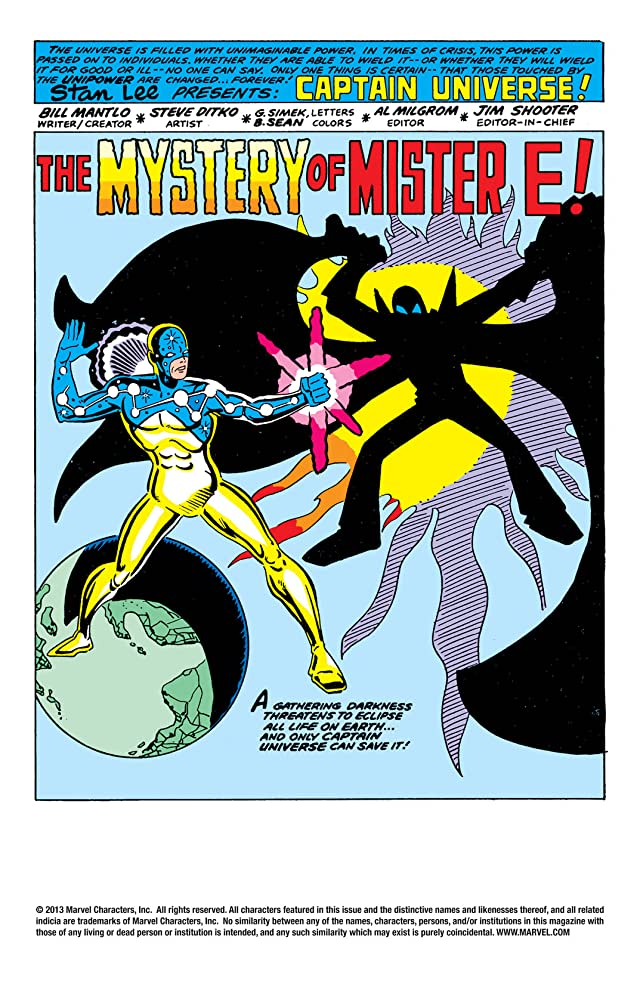 click for super-sized previews of Captain Universe: The Hero Who Could Be You