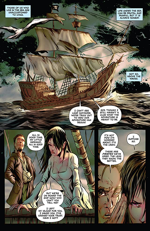click for super-sized previews of Damsels: Mermaids #2: Digital Exclusives Edition