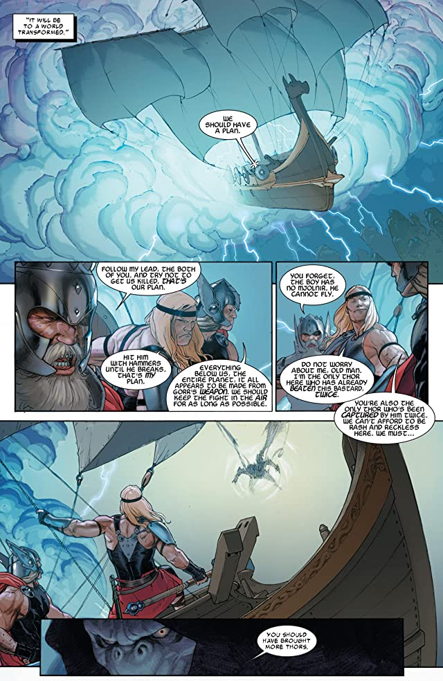 click for super-sized previews of Thor: God of Thunder #9
