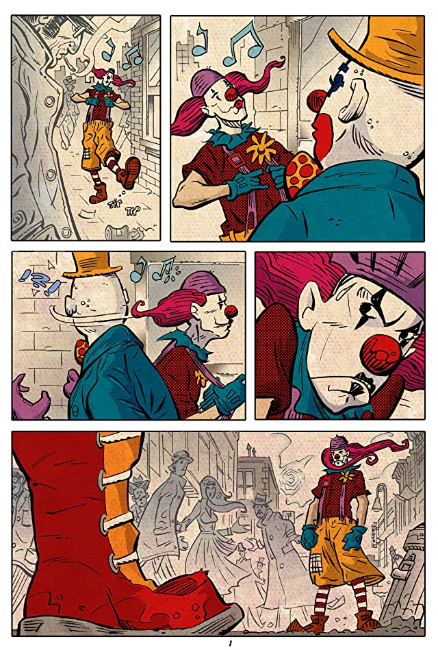 click for super-sized previews of Clown Fight!