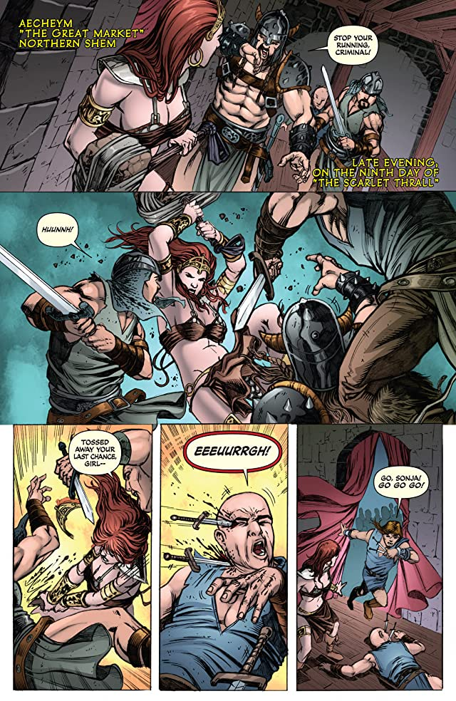 click for super-sized previews of Red Sonja: She-Devil With A Sword #78