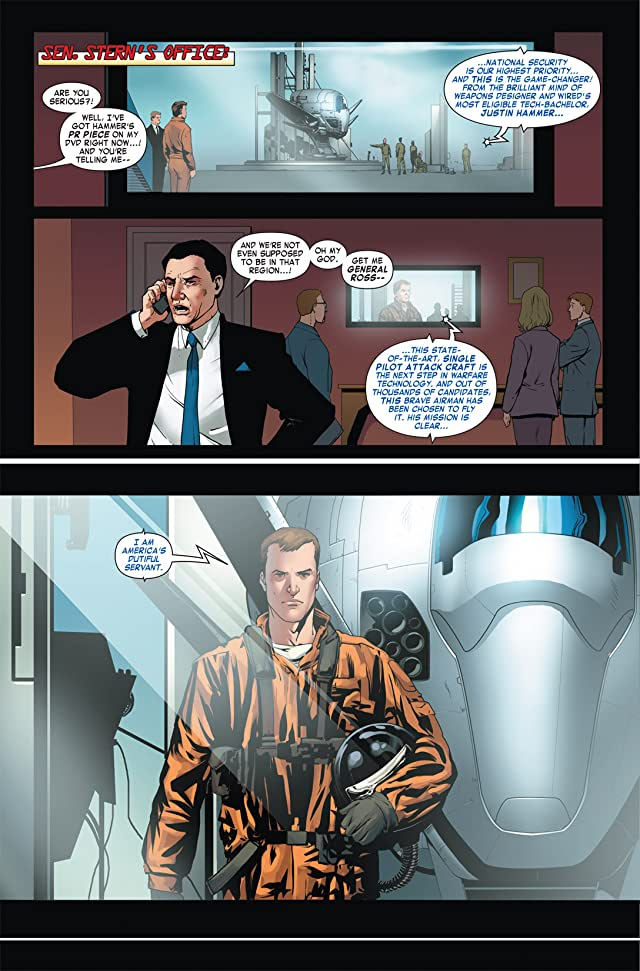 click for super-sized previews of Iron Man 2: Public Identity #3