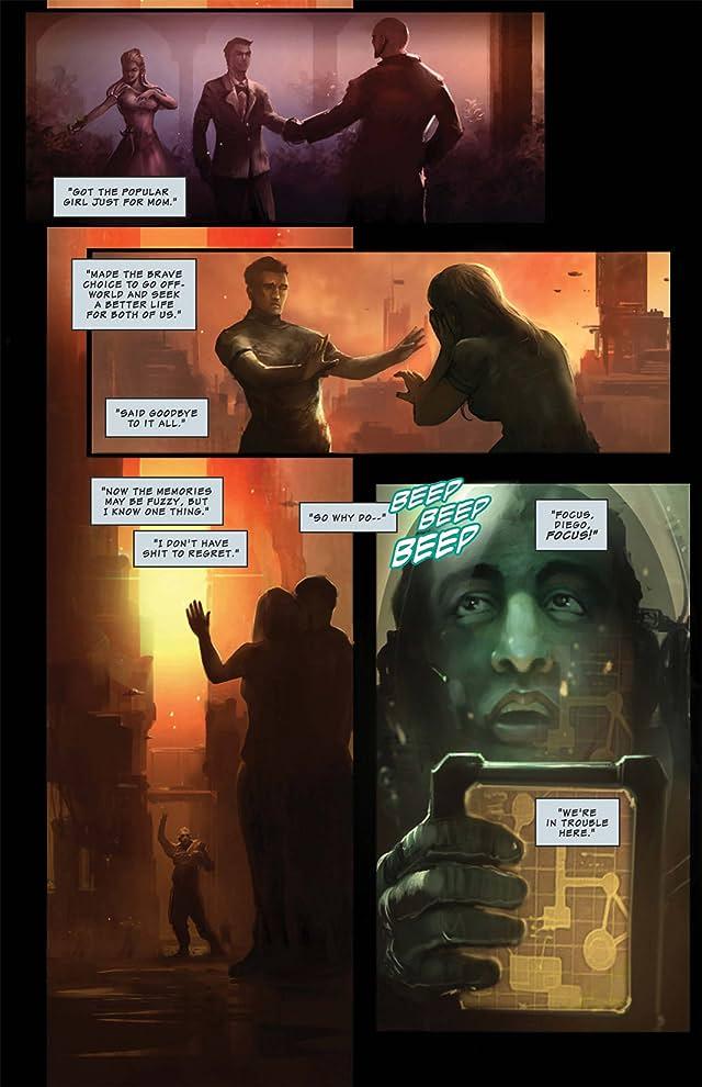 click for super-sized previews of Shrapnel: Hubris #1 (of 3)
