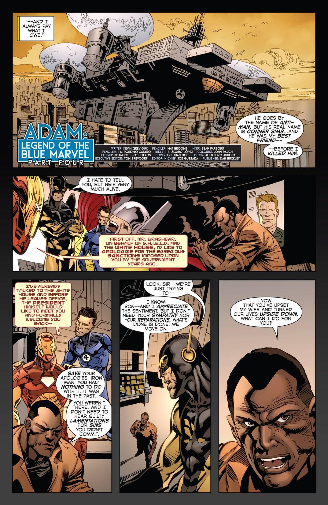 Adam: Legend of the Blue Marvel #4 (of 5)