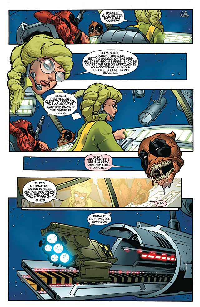 click for super-sized previews of Deadpool: Merc With A Mouth #5