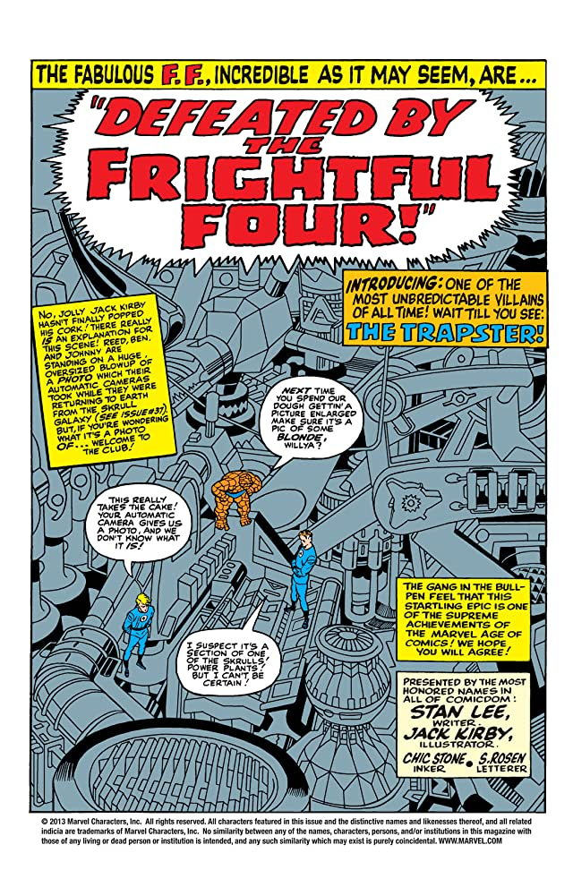 click for super-sized previews of Fantastic Four (1961-1998) #38