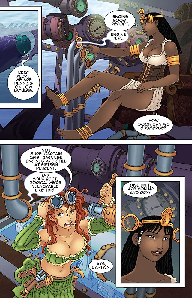click for super-sized previews of Steampunk Corsairs #1
