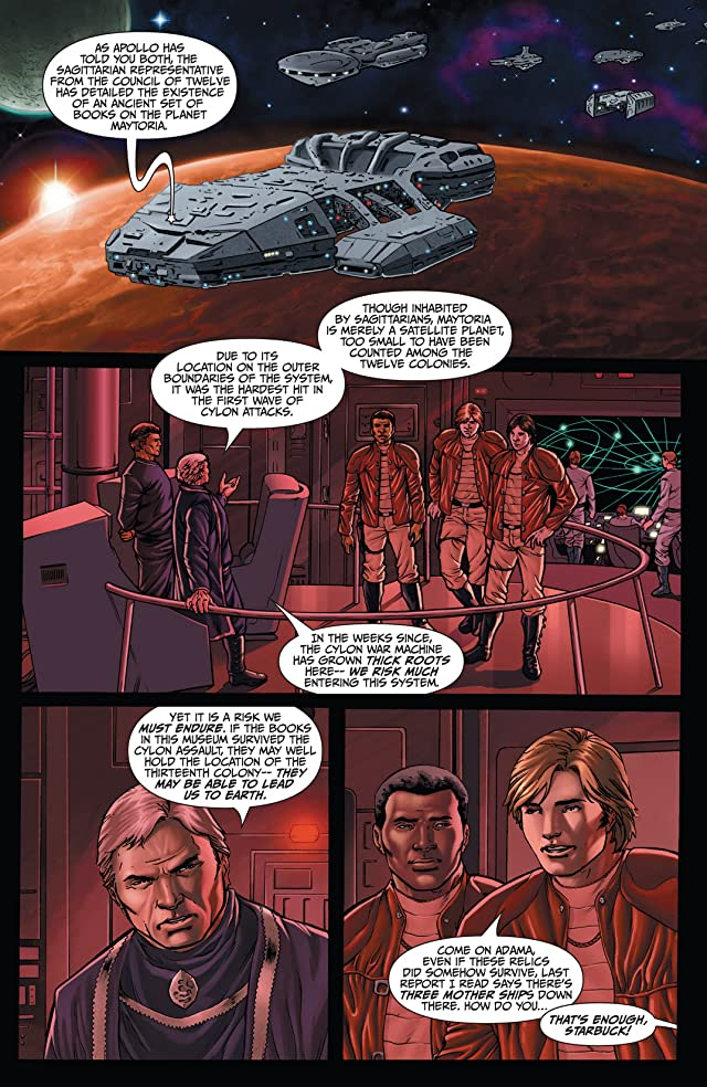 click for super-sized previews of Classic Battlestar Galactica #1