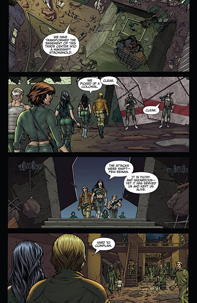 click for super-sized previews of Classic Battlestar Galactica #2