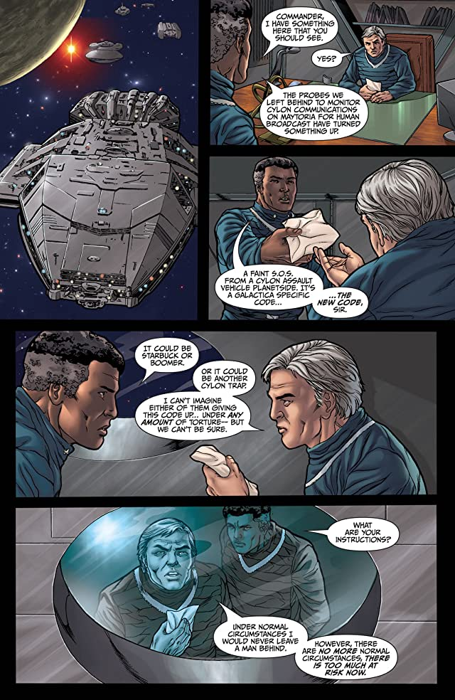 click for super-sized previews of Classic Battlestar Galactica #4