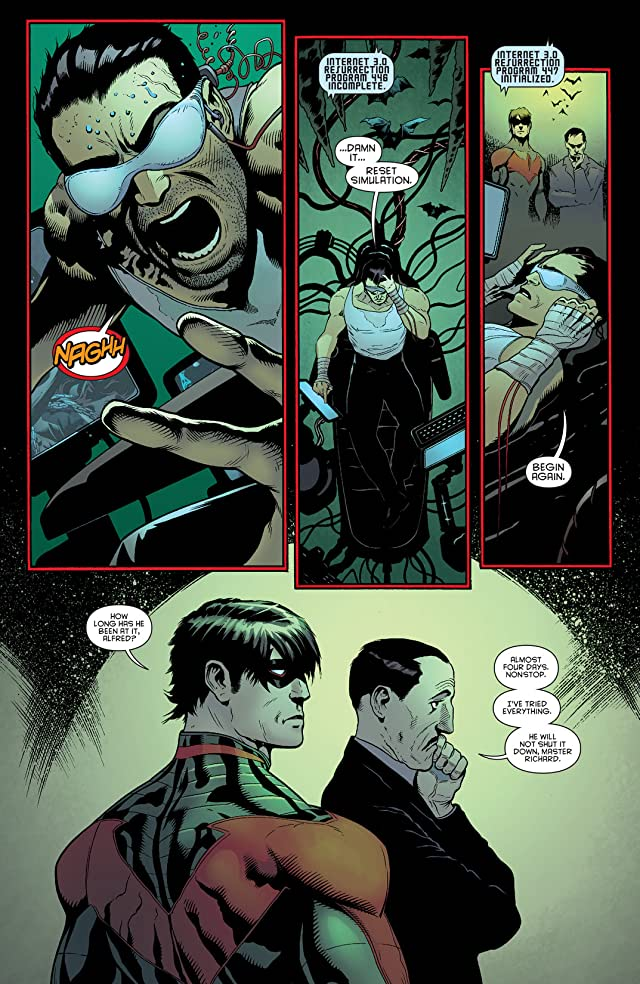click for super-sized previews of Batman and Robin (2011-2015) #23: Nightwing