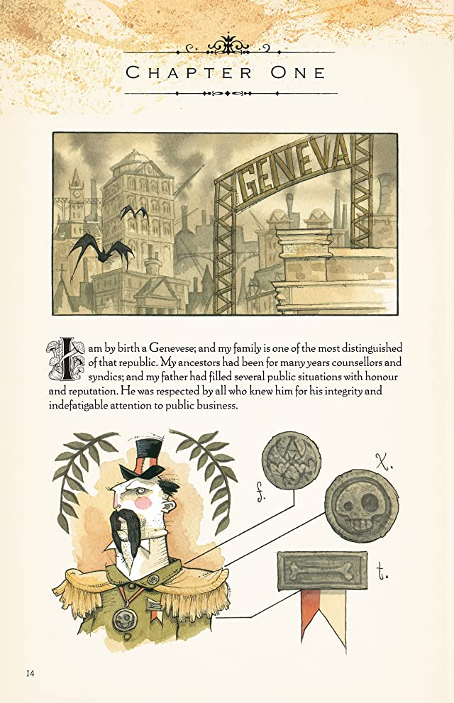 click for super-sized previews of Gris Grimly's Frankenstein