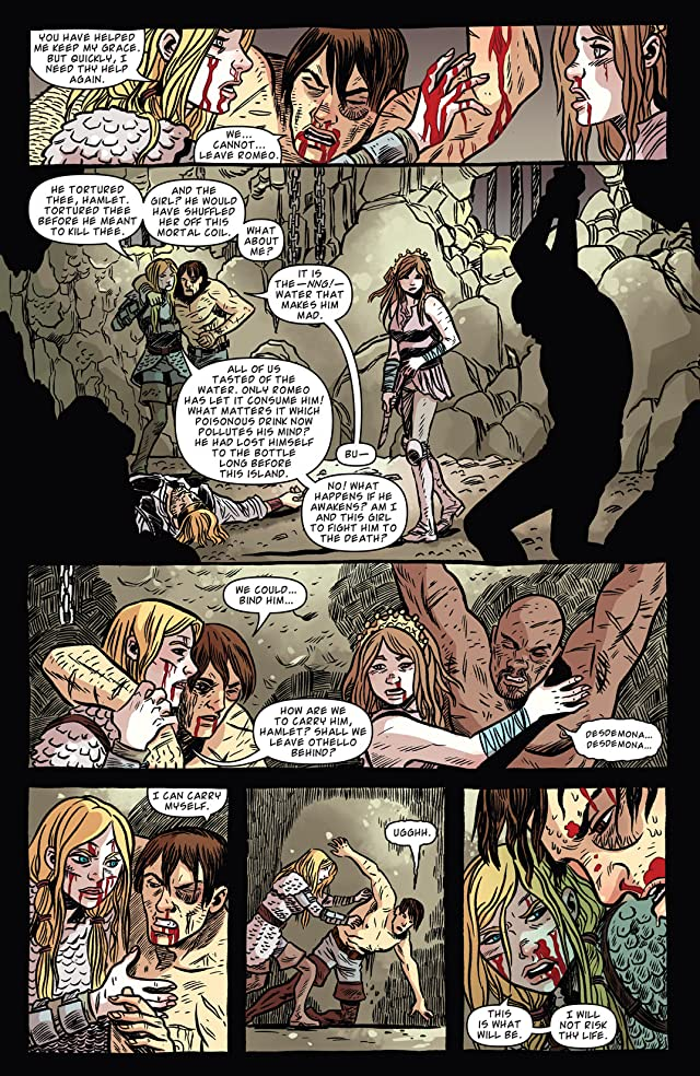 click for super-sized previews of Kill Shakespeare: The Tide of Blood #5 (of 5)