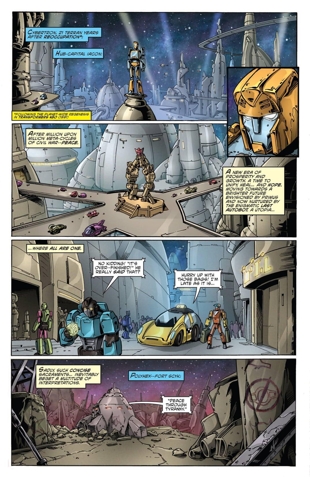 Transformers: Regeneration One Vol. 1
