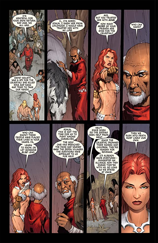 click for super-sized previews of Red Sonja: She-Devil With a Sword #4