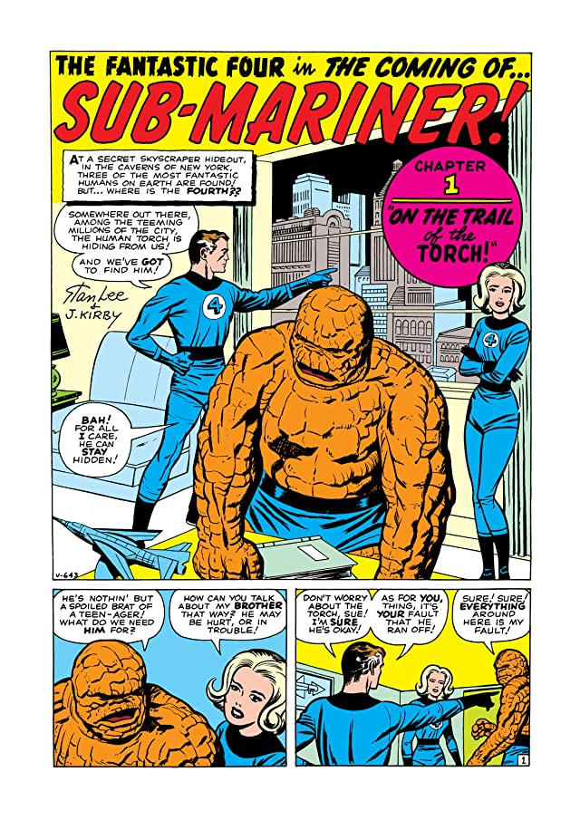click for super-sized previews of Fantastic Four (1961-1998) #4