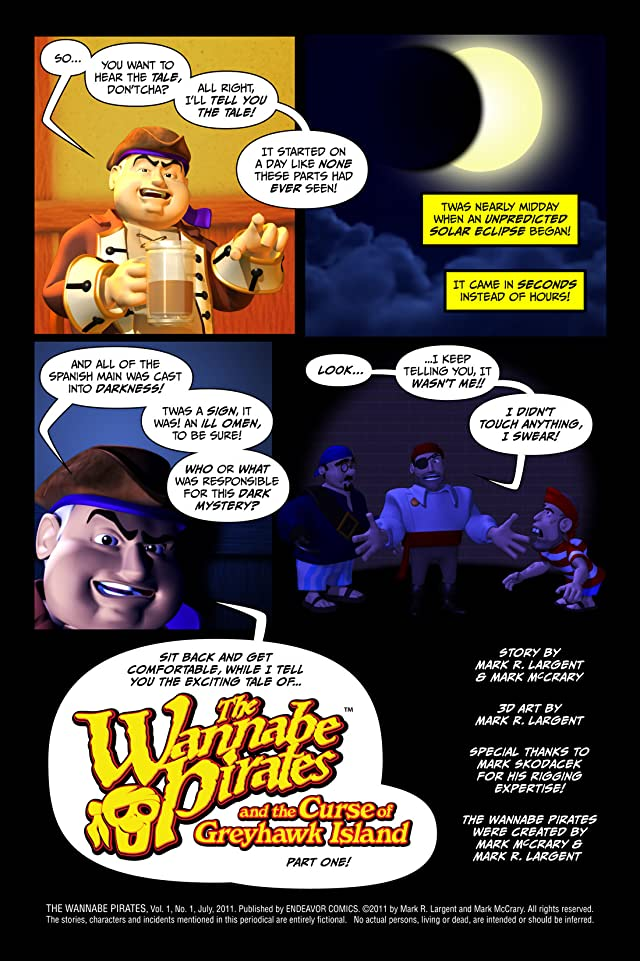 click for super-sized previews of The Wannabe Pirates #1
