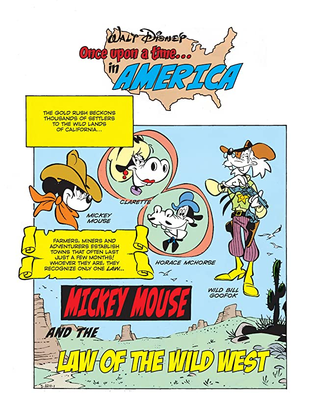 click for super-sized previews of Once Upon a Time... in America #10: Mickey Mouse and the Law of the Wild West