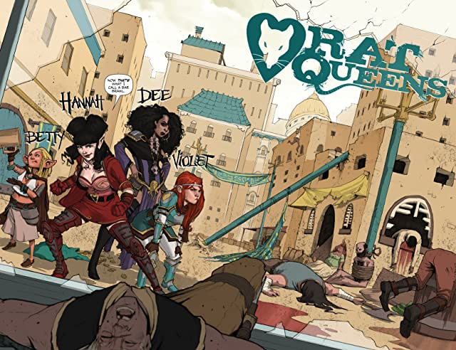 click for super-sized previews of Rat Queens #1