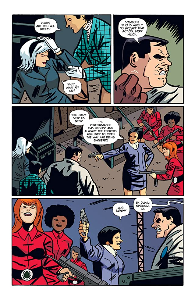 click for super-sized previews of The Mysterious Strangers #4
