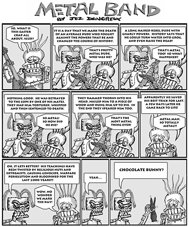 click for super-sized previews of Metal Band Cartoon #1