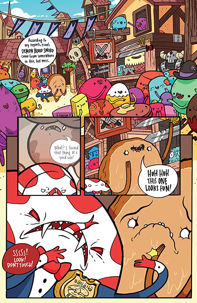 click for super-sized previews of Adventure Time: Candy Capers #4 (of 6)