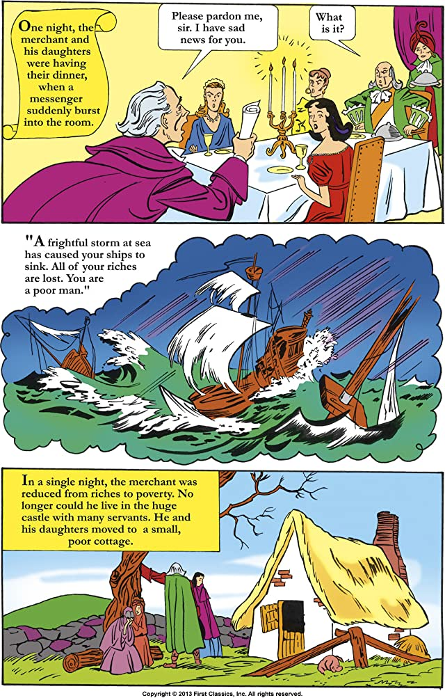 click for super-sized previews of Classics Illustrated Junior #509: Beauty and the Beast