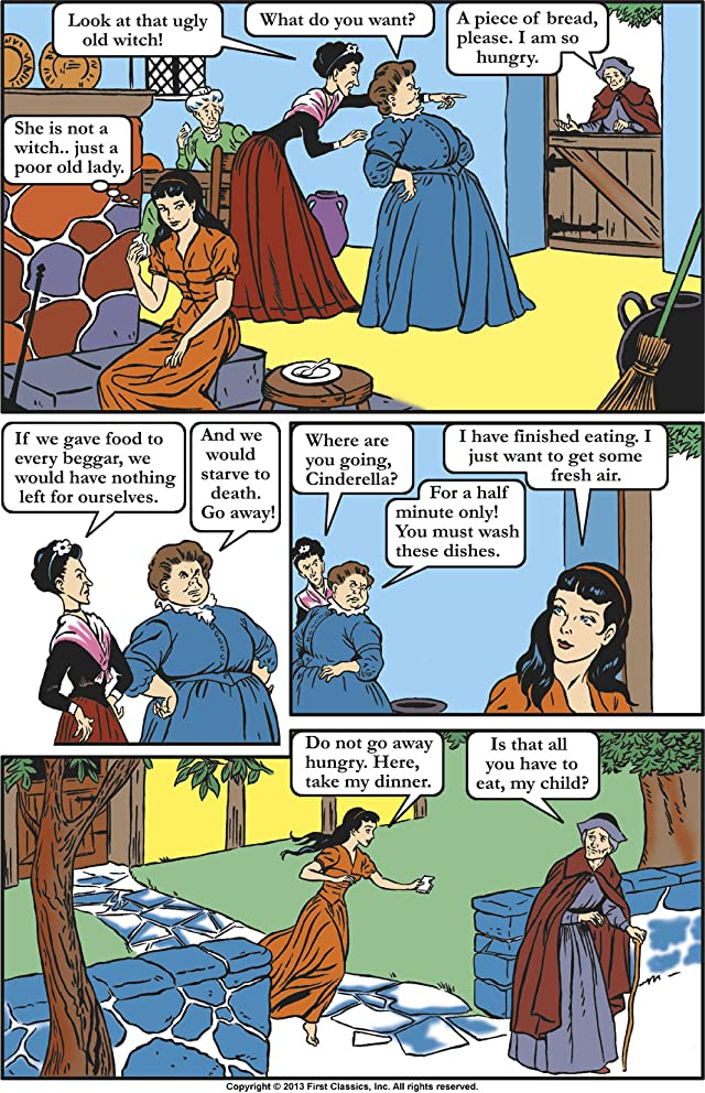 click for super-sized previews of Classics Illustrated Junior #503: Cinderella