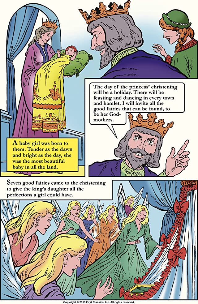click for super-sized previews of Classics Illustrated Junior #505: Sleeping Beauty
