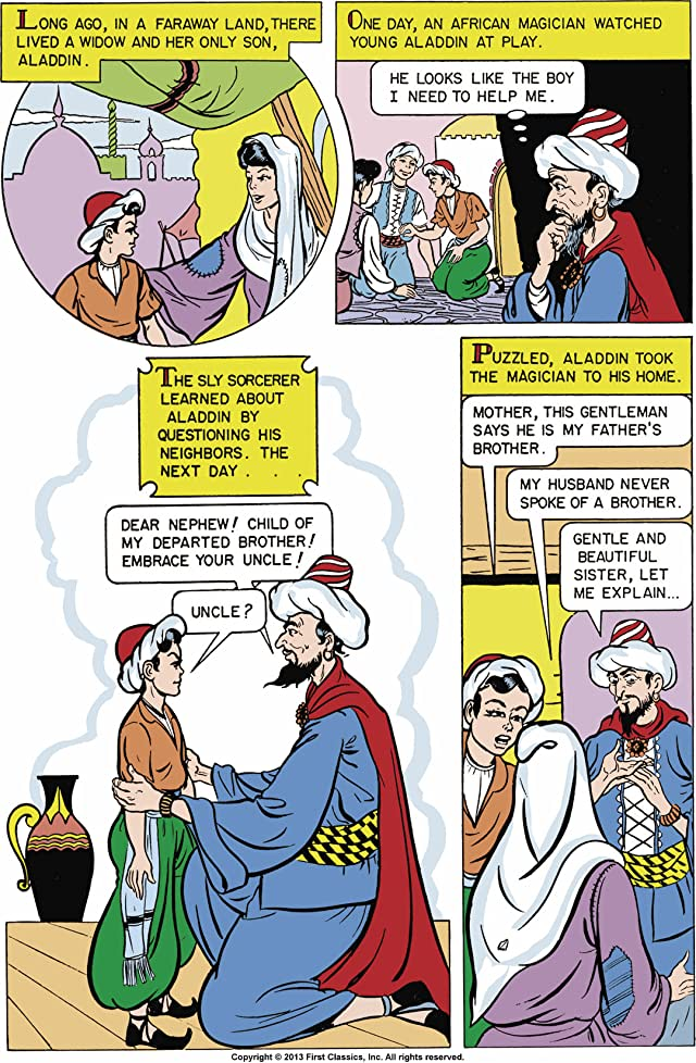 click for super-sized previews of Classics Illustrated Junior #516: Aladdin and His Lamp