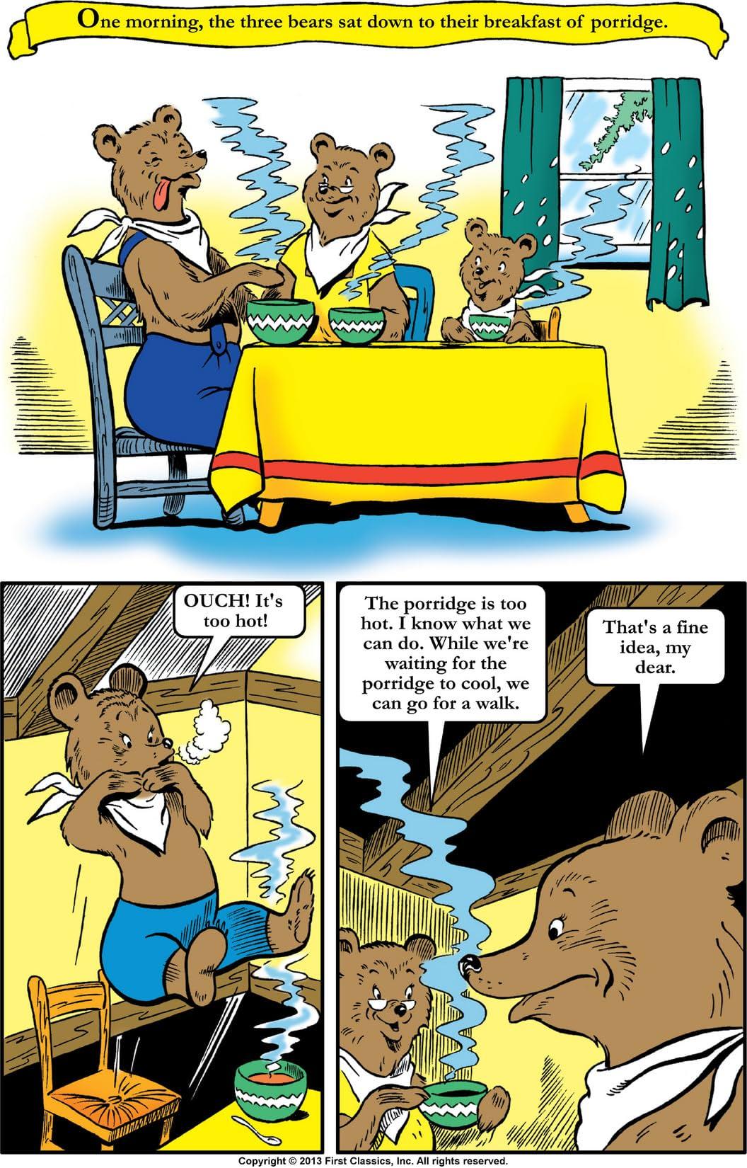 Classics Illustrated Junior #508: Goldilocks and the Three Bears