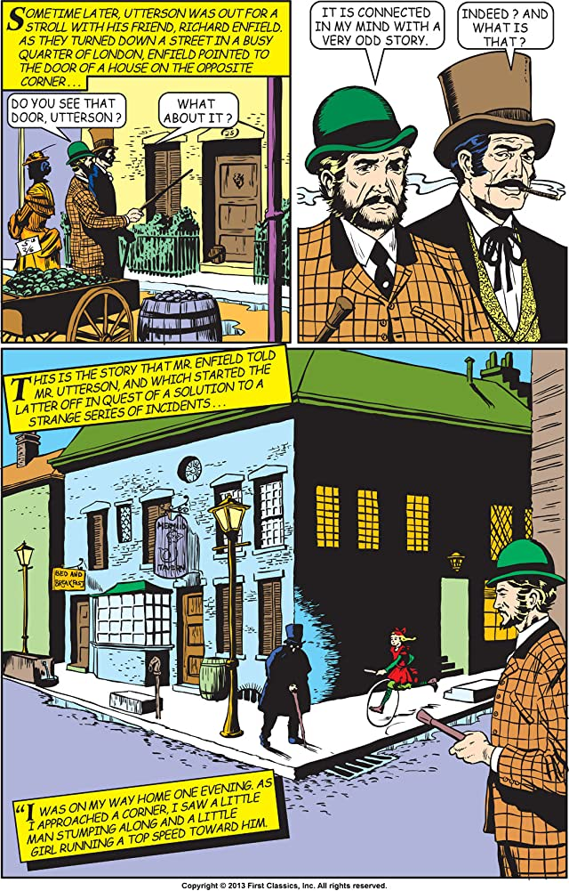 click for super-sized previews of Classics Illustrated #13: Dr. Jekyll & Mr. Hyde