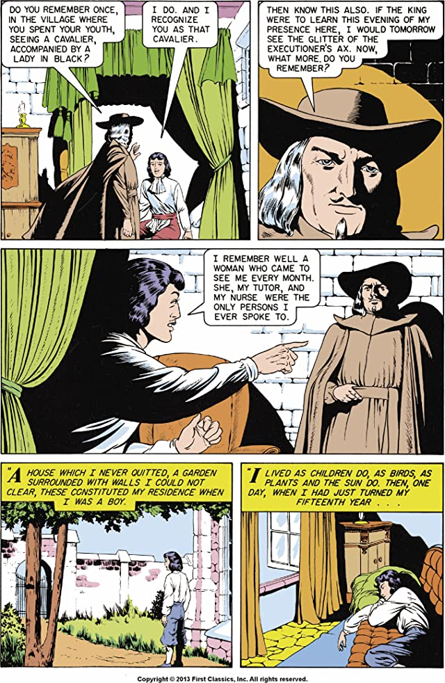 click for super-sized previews of Classics Illustrated #54: The Man in the Iron Mask