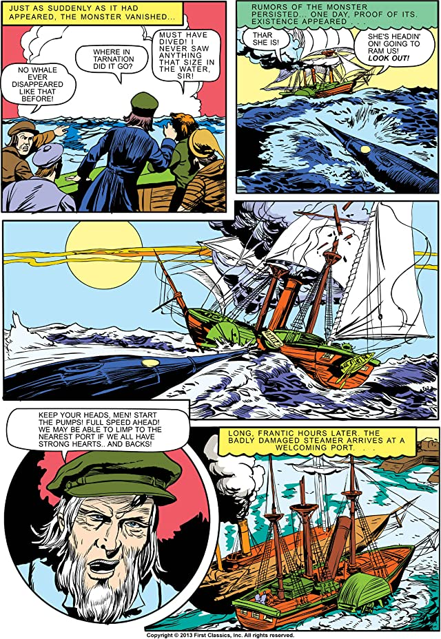 click for super-sized previews of Classics Illustrated #47: 20,000 Leagues Under the Sea