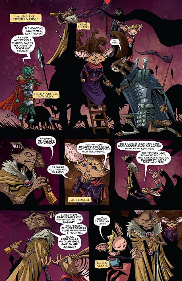 click for super-sized previews of The Mice Templar Vol. 4: Legend #8