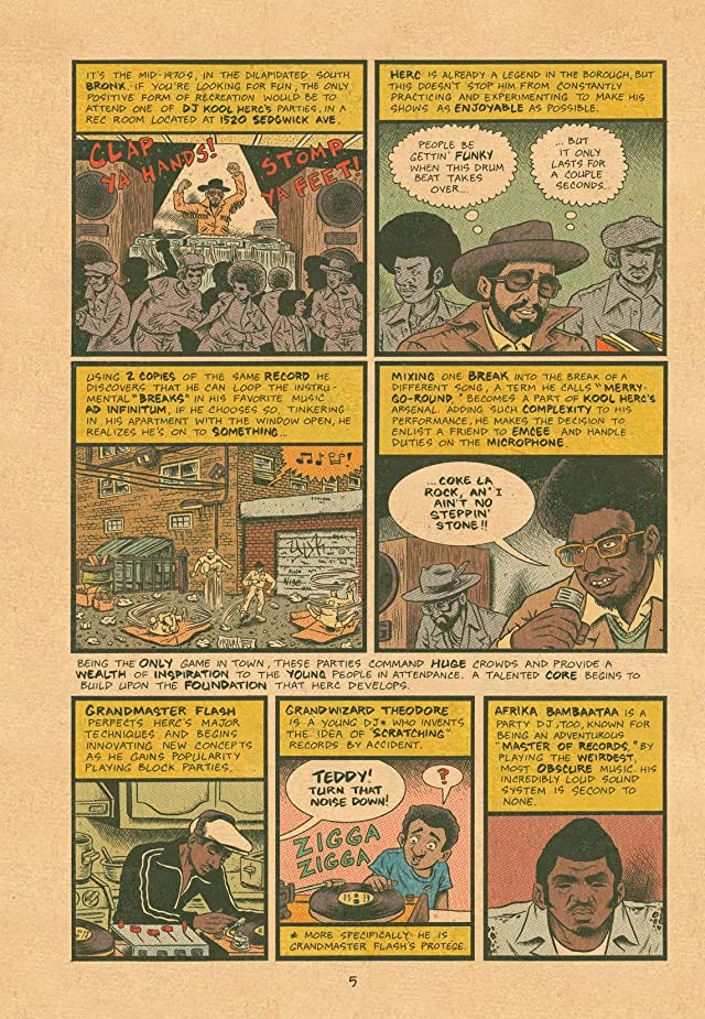 click for super-sized previews of Hip Hop Family Tree Vol. 1
