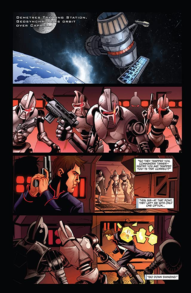 click for super-sized previews of Battlestar Galactica: Cylon War #2 (of 4)