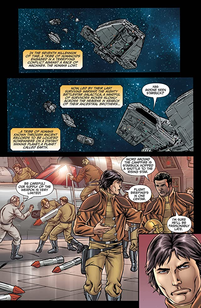 click for super-sized previews of Classic Battlestar Galactica: Cylon Apocalypse #3