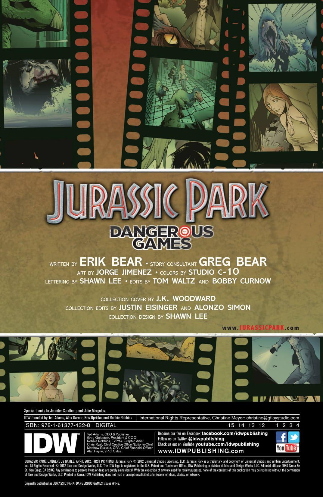 Jurassic Park: Dangerous Games