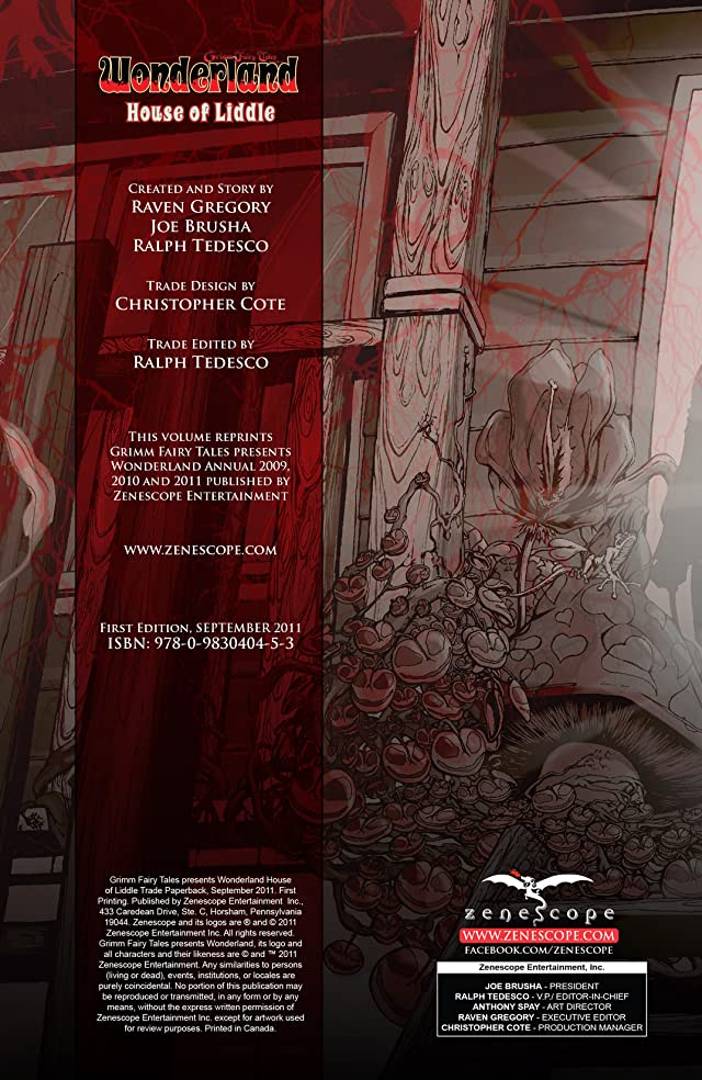 click for super-sized previews of Wonderland: The House of Liddle Vol. 1