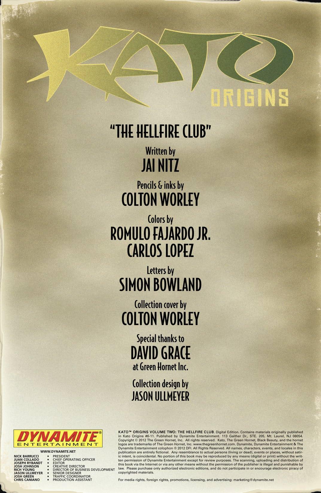 Kato Origins Vol. 2: Hellfire Club