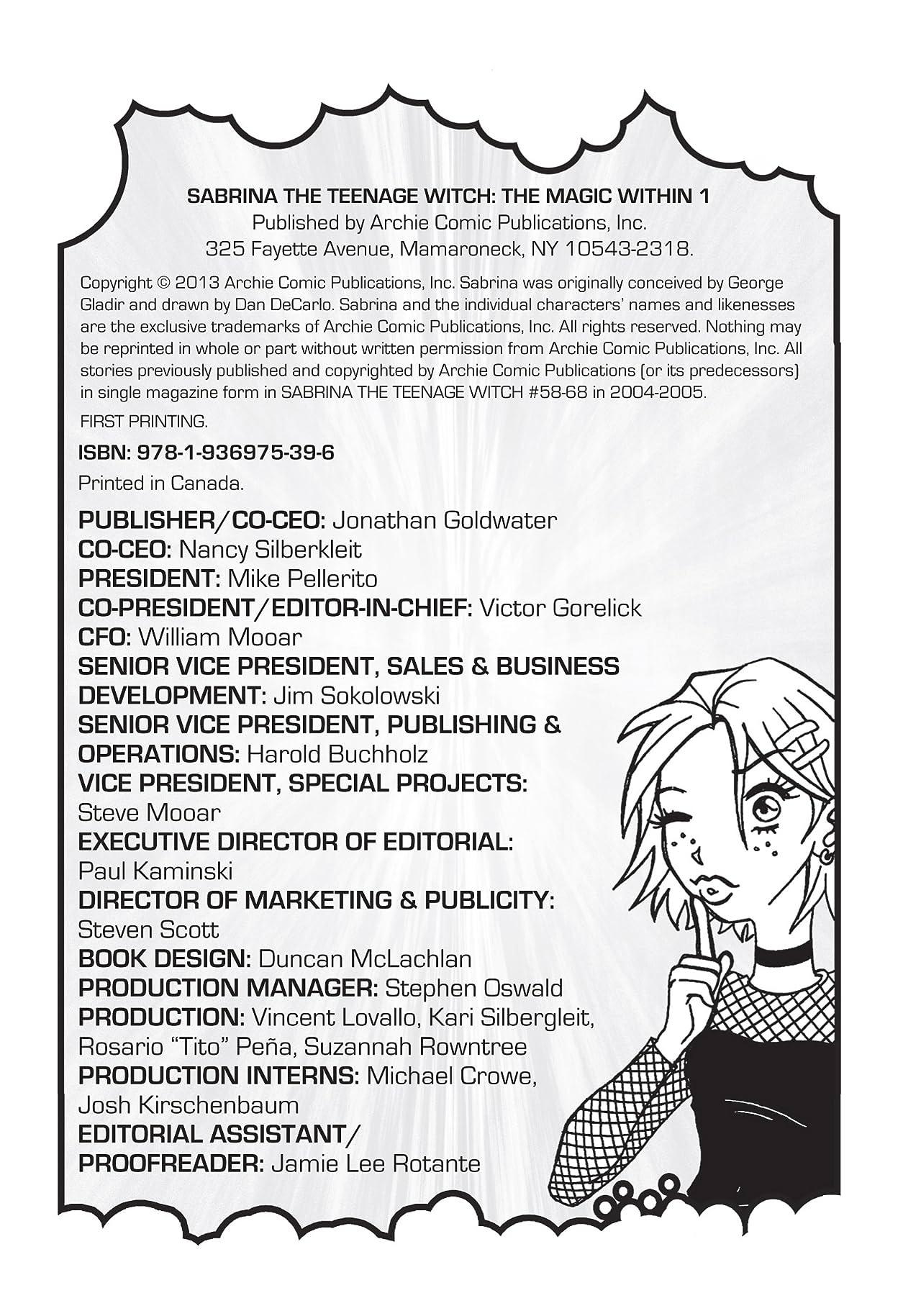 Sabrina Manga: The Magic Within Vol. 1