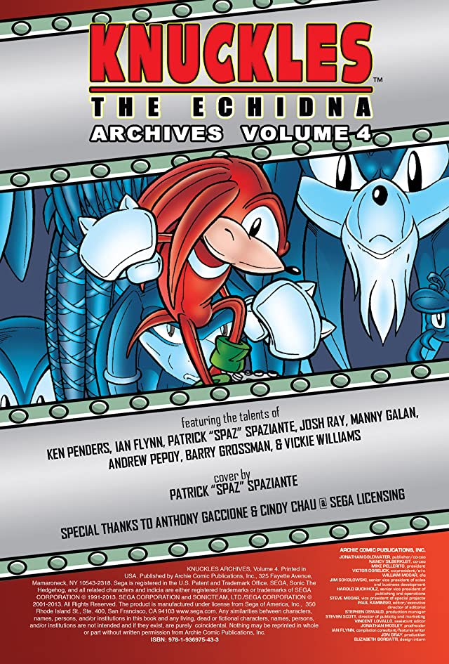 click for super-sized previews of Knuckles the Echidna Archives Vol. 4