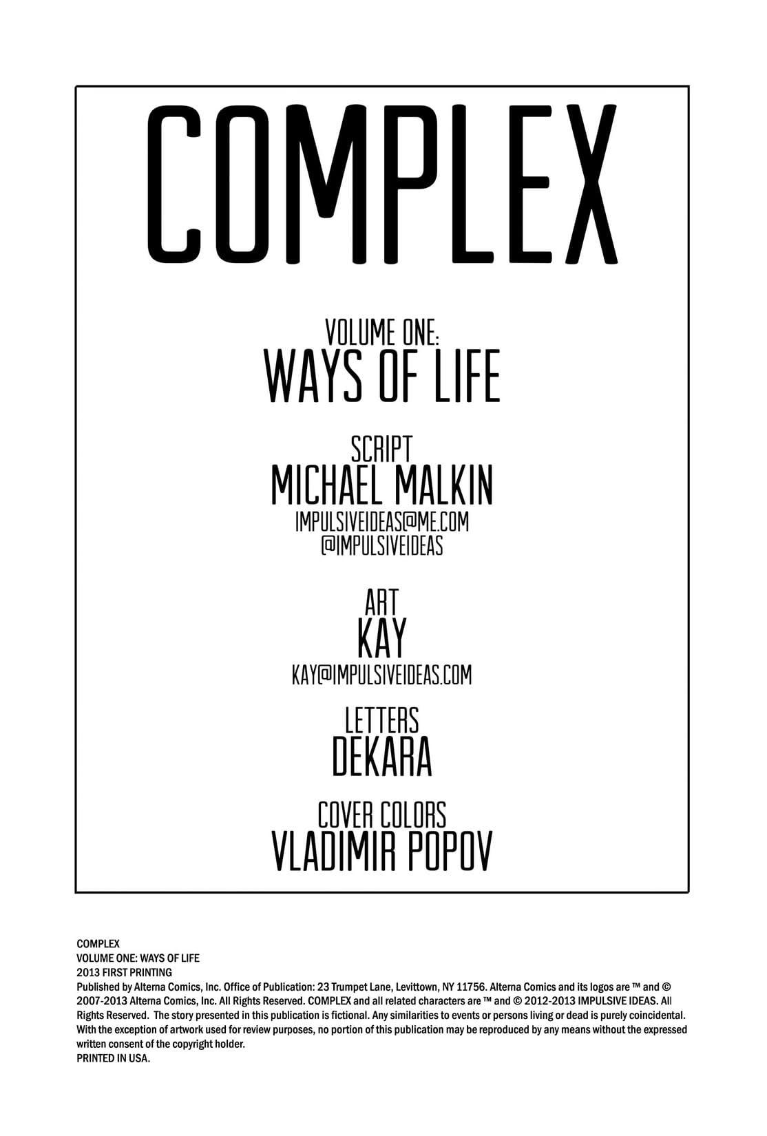 Complex Vol. 1: Ways of Life