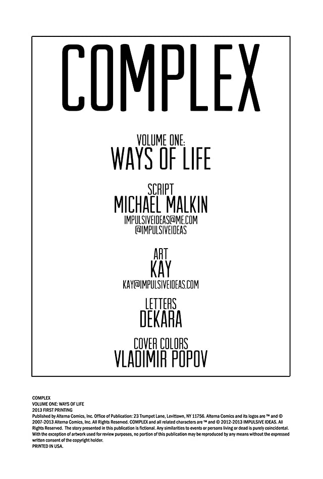 Complex Vol. 1: Ways of Life