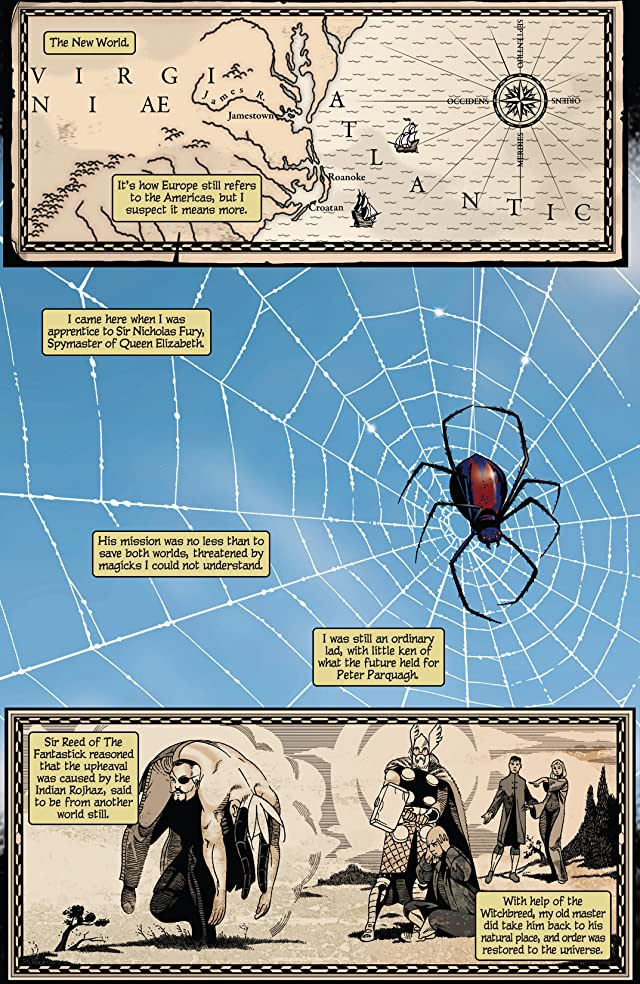 click for super-sized previews of Marvel 1602: Spider-Man
