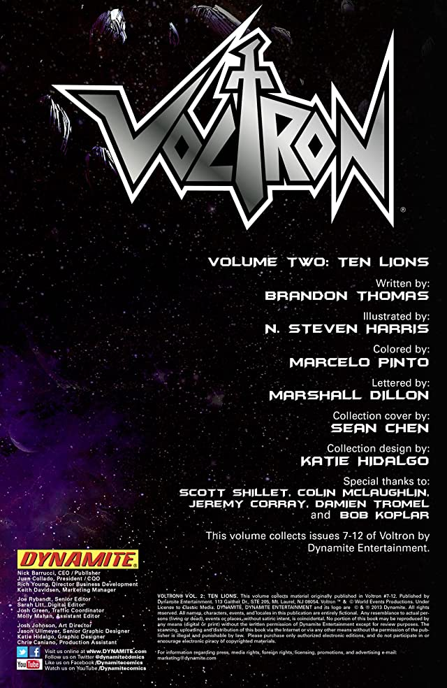 Voltron Vol. 2: Ten Lions