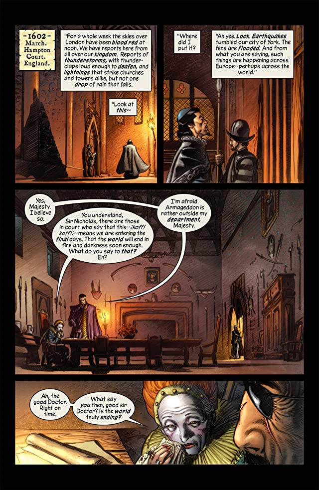 click for super-sized previews of Marvel 1602 #1