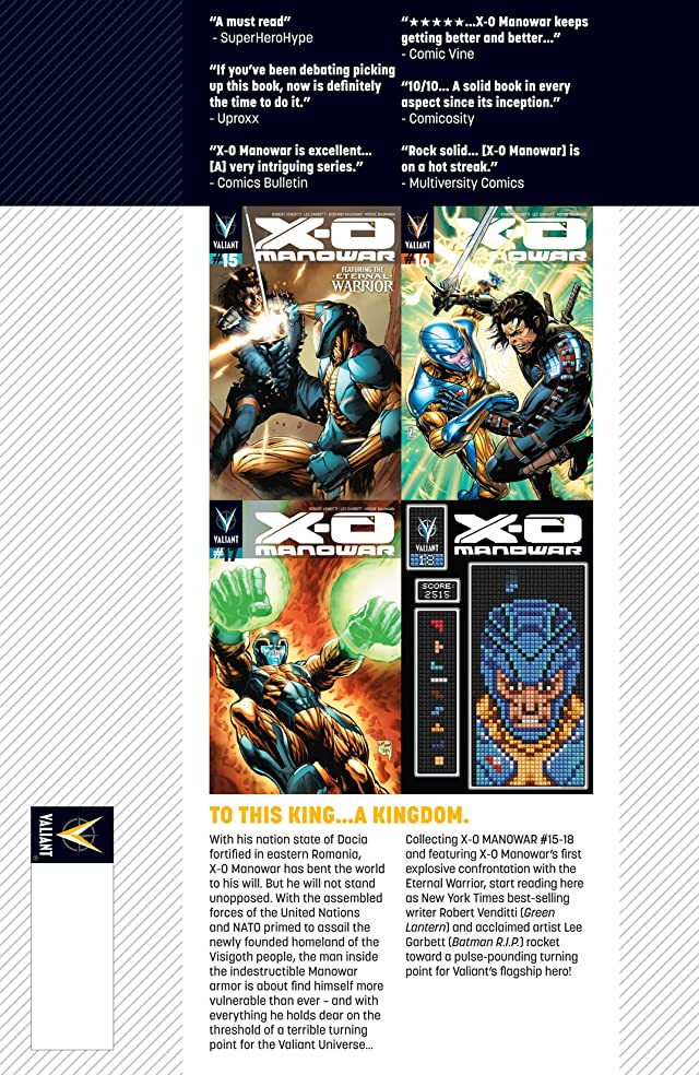 click for super-sized previews of X-O Manowar Vol. 4: Homecoming